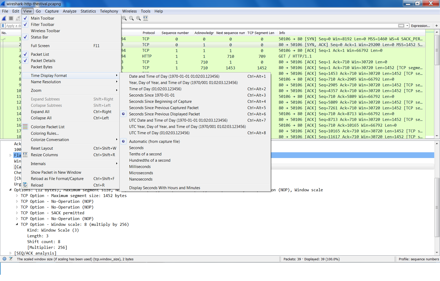 Analyzing an Http Connection With Wireshark-